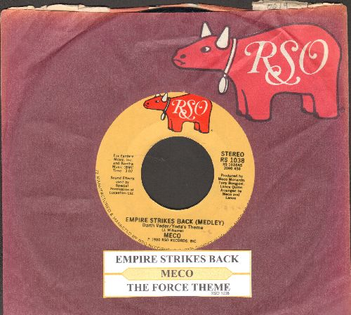 Meco - Empire Strikes Back (Medley)/The Force Theme (with juke box label and RSO company sleeve) - NM9/ - 45 rpm Records