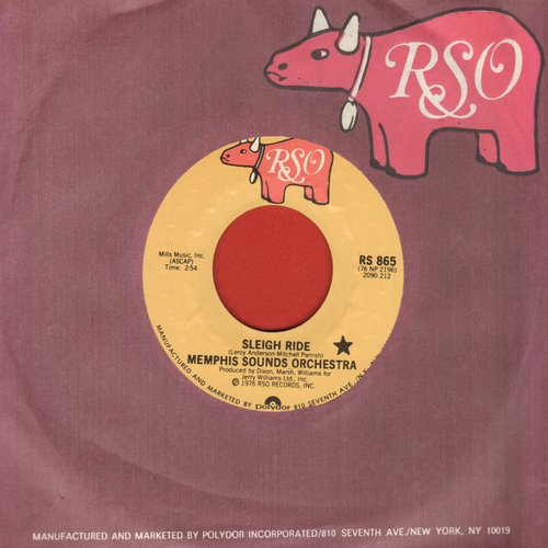 Memphis Sound Orchestra - Sleigh Ride/Winter Wonderland (with RSO company sleeve) - M10/ - 45 rpm Records