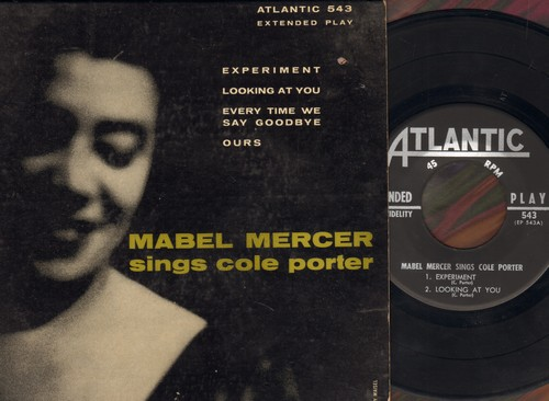 Mercer, Mabel - Mabel Mercer Sings Cole Porter: Experiment/Looking At You/Every Time We Say Goodbye/Ours (vinyl EP record with picture cover) - NM9/EX8 - 45 rpm Records