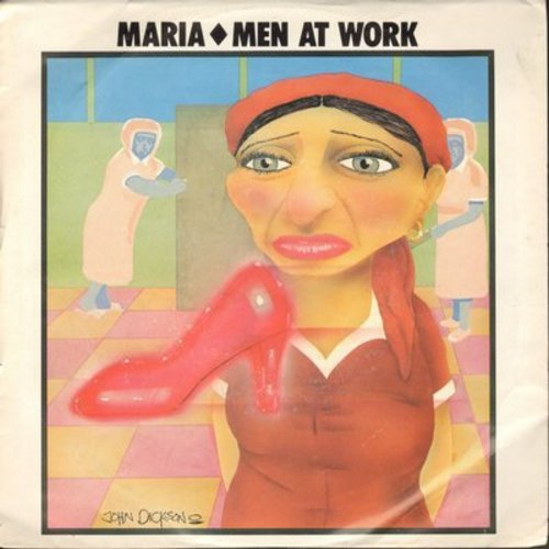 Men At Work - Maria/Snakes And Ladders (with picture sleeve) - M10/EX8 - 45 rpm Records