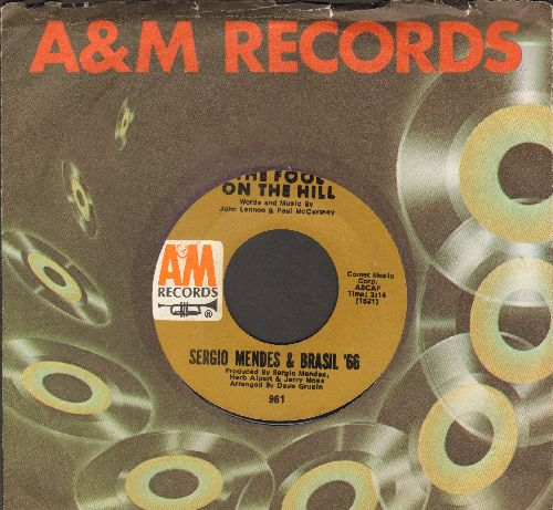 Mendes, Sergio & Brazil '66 - The Fool On The Hill/So Many Stars (with A&M company sleeve) - NM9/ - 45 rpm Records