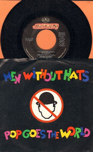Men Without Hats - Pop Goes The World/The End Of The World  (with picture sleeve) - M10/NM9 - 45 rpm Records