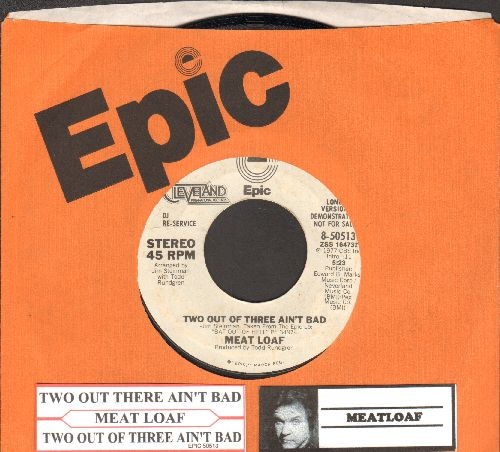 Meat Loaf - Two Out Of Three Ain't Bad (DJ advance copy featuring long and short version of hit with juke box label) - NM9/ - 45 rpm Records
