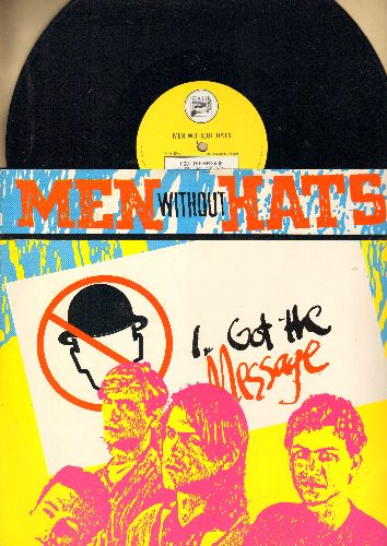 Men Without Hats - I Got The Message (Special Extended Remix)/Freeways (Euromix) Utter Space (12 inch 45 rpm vinyl Maxi Single, British Pressing with picture cover) - NM9/NM9 - Maxi Singles