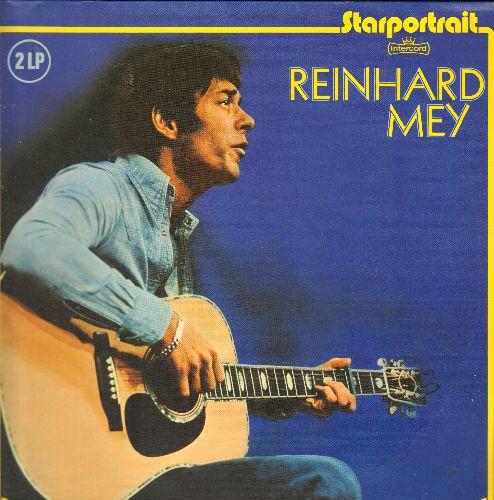 Reinhard, Mey - Starportrait: Die heisse Shlacht am kalten Buffet, Ich bin Klemptner von Beruf, Gute Nacht Freunde (2 vinyl LP records, German Pressing, sung in German, gate-fold cover) - NM9/NM9 - LP Records
