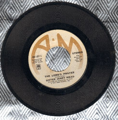 Sister Janet Mead - The Lord's Prayer/Brother Sun And Sister Moon (with A&M company sleeve) - VG7/ - 45 rpm Records