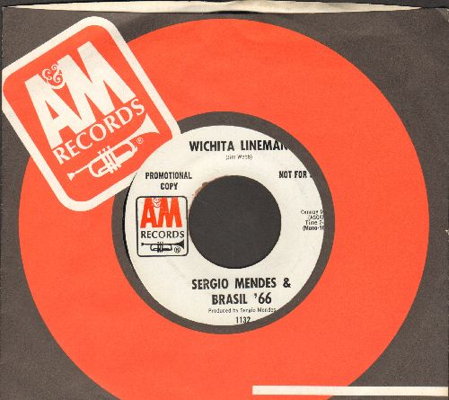 Mendes, Sergio & Brazil '66 - Witchita Lineman/Ye-Me-Le (DJ advance pressing with company sleeve) - NM9/ - 45 rpm Records