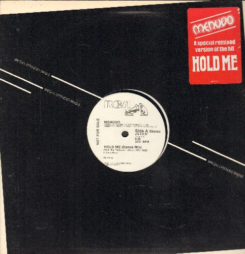 Menudo - Hold Me (double-A-sided DJ advance pressing featuring a pre-teen Ricky Martin!)(12 inch Maxi Single with original cover) - NM9/ - 45 rpm Records