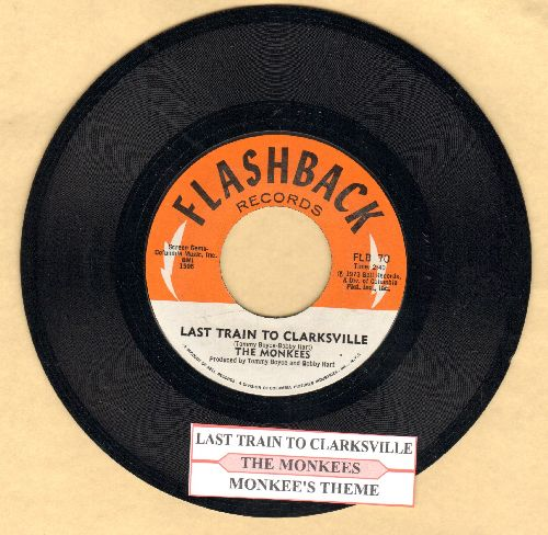 Monkees - Last Train To Clarksville/Monkee's Theme (double-hit re-issue with juke box label) - NM9/ - 45 rpm Records