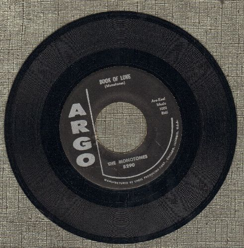 Monotones - Book Of Love/You Never Loved Me - NM9/ - 45 rpm Records