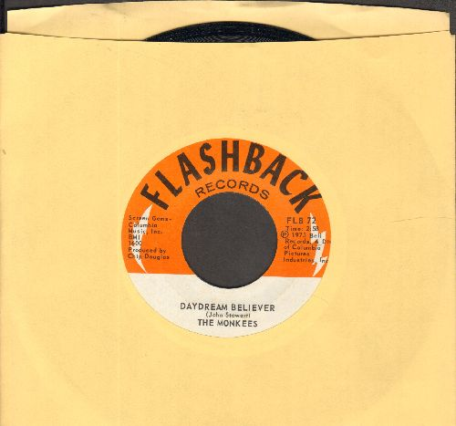 Monkees - Daydream Believer/(I'm Not Your) Steppin Stone (double-hit re-issue) - NM9/ - 45 rpm Records