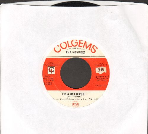 Monkees - I'm A Believer/(I'm Not Your) Steppin' Stone  - VG7/ - 45 rpm Records
