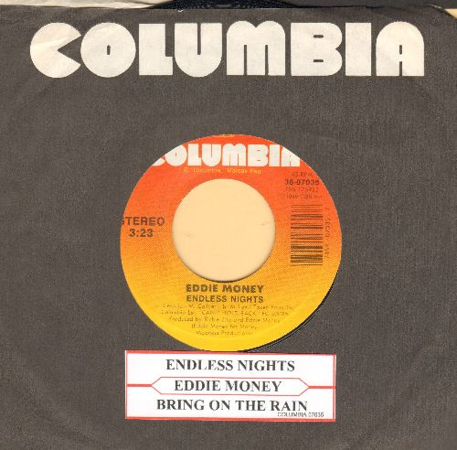 Money, Eddie - Eddie Money/Bring On The Rain (with juke box label and Columbia company sleeve) - NM9/ - 45 rpm Records