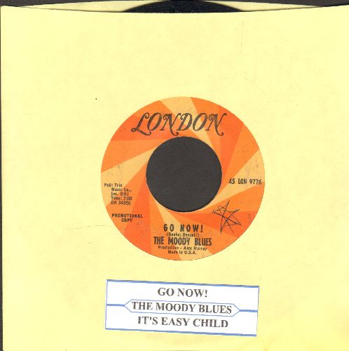 Moody Blues - Go Now!/It's easy Child (DJ advance pressing with juke box label) - EX8/ - 45 rpm Records