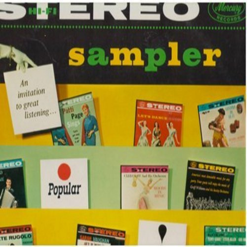 Hayman, Richard & His Orchestra, Patti Page, Sarah Vaughan, others - Stereo Sampler Vol. 1: Autumn In Rome, Sleigh Ride, Like Someone In Love, Rhapsody In Blue (Vinyl STEREO LP record) - NM9/NM9 - LP Records
