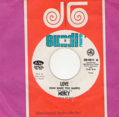 Mercy - Love (Can Make You Happy)/Fire Ball (with J/G company sleeve) - NM9/ - 45 rpm Records