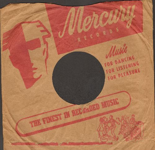 Company Sleeves - RARE Vintage Mercury company sleeve. 10 inch sleeve for 78 rpm records. NICE toch to enhance the appearance of your collectable 78 rpm records! - VG7/ - Supplies