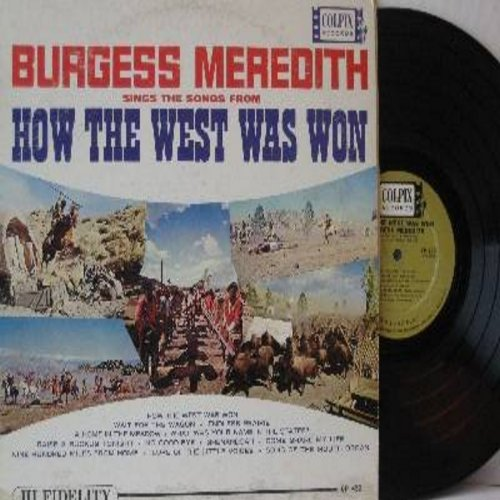 Meredith, Burgess - Songs From How The West Was Won: Shenandoah, Nine Hundred Miles From Home, Endless Prairie, Raise A Ruckus Tonight (Vinyl MONO LP record) - EX8/VG7 - LP Records