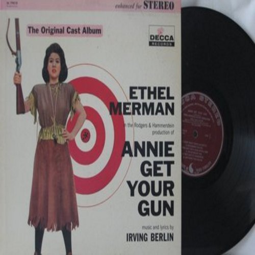 Merman, Ethel - Annie Get Your Gun - Original Cast Production of Irving Berlin Broadway Hit. (Vinyl STEREO LP record) - NM9/EX8 - LP Records