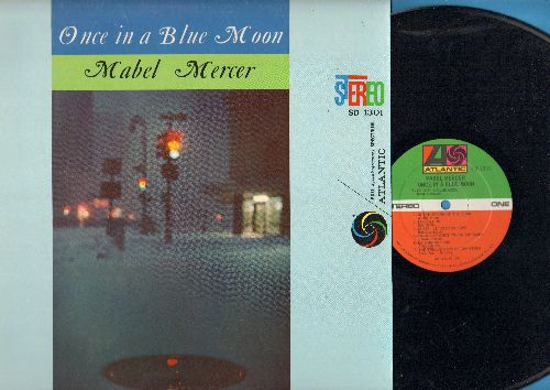Mercer, Mabel - Once In A Blue Moon: Whenever Winds Blow, Isn't He Adorable, If You Leave Paris, Sail Away, If Love Were All (Vinyl STEREO LP record, re-issue of vintage recordings) - NM9/NM9 - LP Records