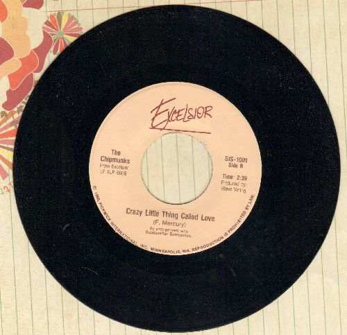 Chipmunks - Crazy Little Thing Called Love/You May Be Right (sol) - NM9/ - 45 rpm Records
