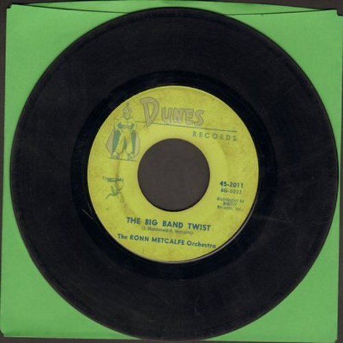 Metcalfe, Ronn Orchestra - Big Band Twist/Twisting At The Woodchoppers Ball (FANTASTIC Big Band Twist two-sider!) - VG7/ - 45 rpm Records