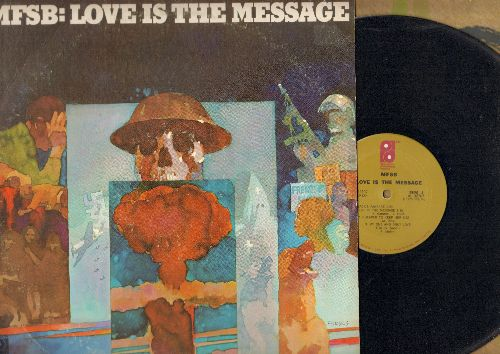 MFSB - MFSB: Love Is The Message: TSOP (Theme from -Soul Train- featuring The Three Degrees), Cheaper To Keep Her, My One And Only Love (vinyl STEREO LP record) - EX8/VG7 - LP Records