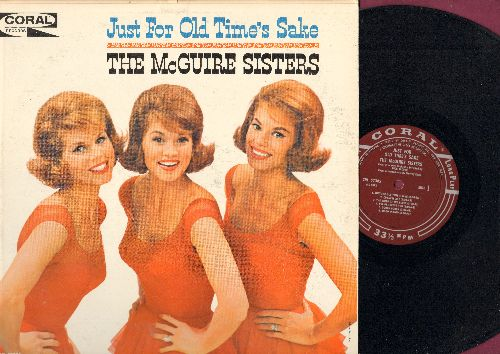 McGuire Sisters - Just For Old Time's Sake: Pennies From Heaven, Goody Goody, Wouldn't It Be Loverly, Hi-Lili Hi-Lo (Vinyl MONO LP record, maroon label first pressing, NICE condition!) - NM9/NM9 - LP Records