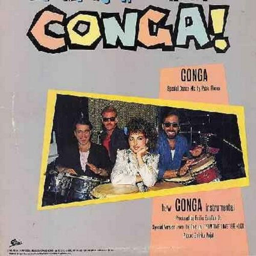 Miami Sound Machine - Conga! (Dance Mix - 6:00)/Conga (Instrumental - 4:52) (12 inch vinyl Maxi Single with picture cover, DANCE CLUB FAVORITE!) - NM9/VG7 - Maxi Singles