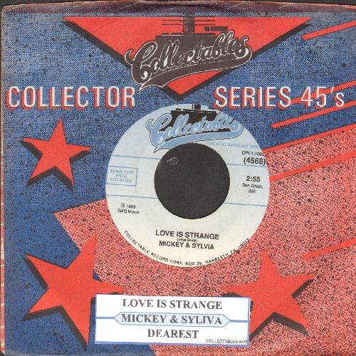 Mickey & Sylvia - Love Is Strange/Dearest (double-hit re-issue with juke box label and company sleeve - M10/ - 45 rpm Records