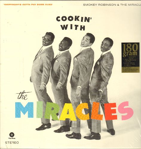 Miracles - Cookin' With The Miracles: Everybody's Gotta Pay Some Dues, Ain't It Baby, Money, Got A Job  (Vinyl STEREO LP record, 180 gram Virgin Vinyl re-issue, SEALED, never opened!) - SEALED/SEALED - LP Records