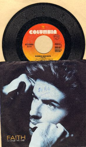 Michael, George - Faith/Hand To Mouth (with picture sleeve) - EX8/EX8 - 45 rpm Records