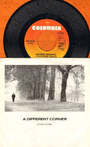 Michael, George - A Different Corner/A Different Corner (Instrumental) (with picture sleeve and juke box label) - NM9/EX8 - 45 rpm Records