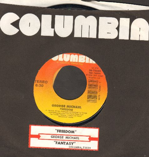 Michael, George - Freedom/Fantasy (with Columbia company sleeve and juke box label) - EX8/ - 45 rpm Records