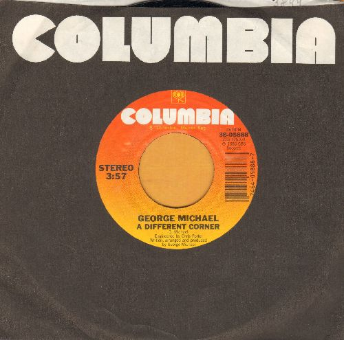 Michael, George - A Different Corner/A Different Corner (Instrumental) (with Columbia company sleeve) - EX8/ - 45 rpm Records