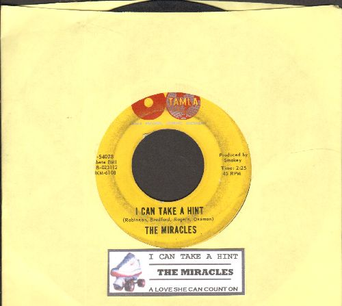 Miracles - I Can Take A Hint/A Love She Can Count On (with juke box label) - VG6/ - 45 rpm Records