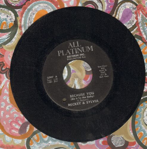 Mickey & Sylvia - Because You (Do It To Me Baby)/Love Drops (bb) - EX8/ - 45 rpm Records