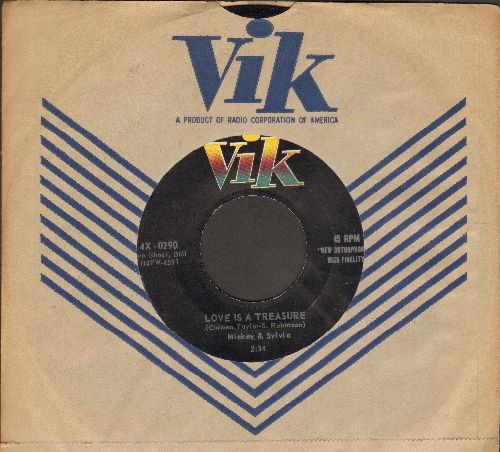 Mickey & Sylvia - Love Is A Treasure/Let's Have A Picnic (with vintage Vik company sleeve) - EX8/ - 45 rpm Records