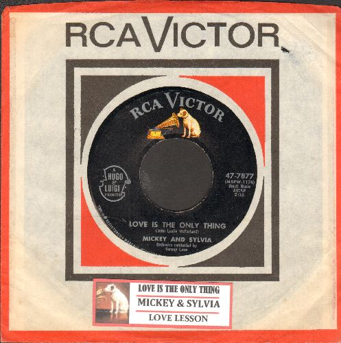 Mickey & Sylvia - Love Lesson/Love Is The Only Thing (MINT condition with juke box label and  vintage RCA company sleeve) - EX8/ - 45 rpm Records