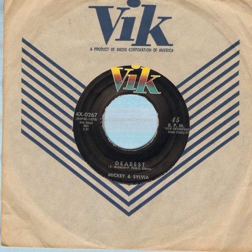 Mickey & Sylvia - There Oughta Be A Law/Dearest (with RARE vintage Vik company sleeve) - NM9/ - 45 rpm Records