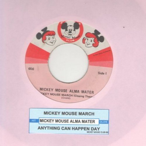 Disney - Mickey Mouse Alma Mater: Mickey Mouse March (Closing Theme)/Anything Can Happen Day - VG7/ - 45 rpm Records