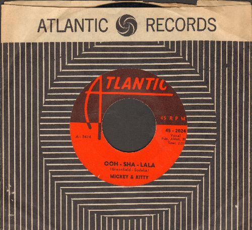Mickey & Kitty - Ooh-Sha-Lala/The Kid Brother (with Atlantic company sleeve) - VG7/ - 45 rpm Records