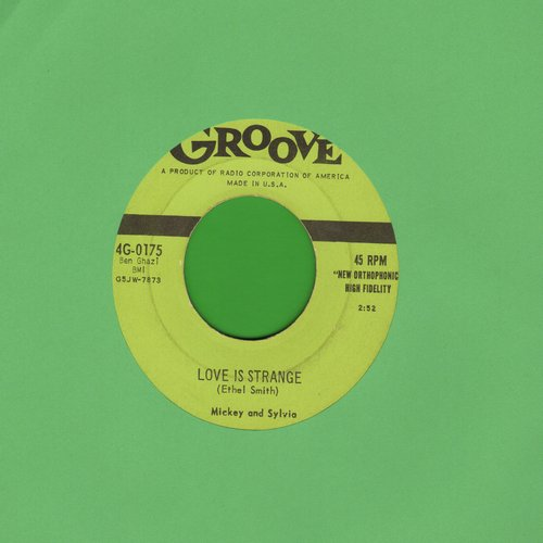 Mickey & Sylvia - Love Is Strange/I'm Going Home (first pressing with juke box label) - EX8/ - 45 rpm Records