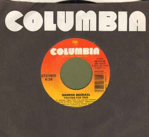 Michael, George - Praying For Time/If You Were My Woman (with Columbia company sleeve) - NM9/ - 45 rpm Records
