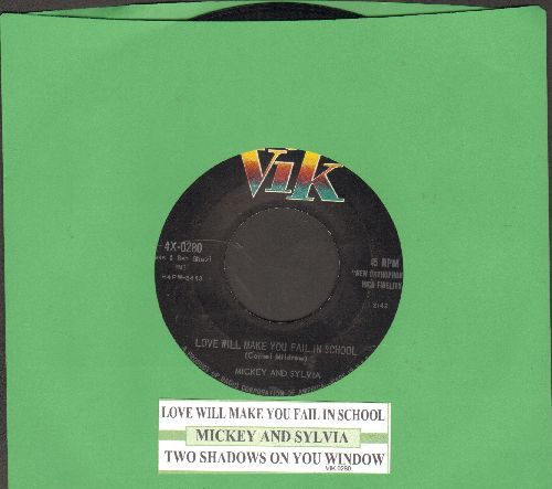 Mickey & Sylvia - Love Will Make You Fail In School/Two Shadows On Your Window (with juke box label) - EX8/ - 45 rpm Records