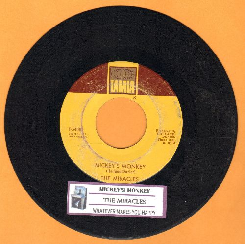 Miracles - Mickey's Monkey/Whatever Makes You Happy (with juke box label) - VG7/ - 45 rpm Records