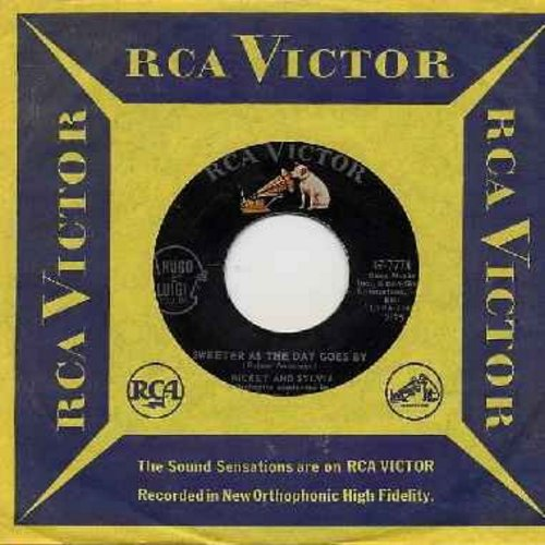 Mickey & Sylvia - Sweeter As The Day Goes By/Mommy Out De Light (with RCA company sleeve) - EX8/ - 45 rpm Records