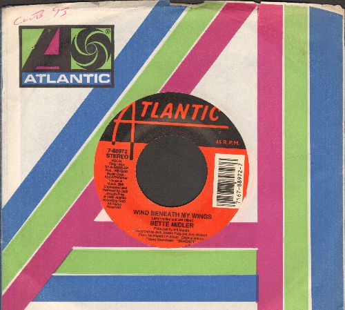 Midler, Bette - Wind Beneath My Wings (WEDDING DANCE FAVORITE!)/Oh Industry (both songs from film -Beaches, with Atlantic company sleeve) - NM9/ - 45 rpm Records