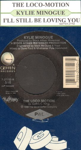 Minogue, Kylie - The Loco-Motion/I'll Still Be Loving You (with juke box label and company sleeve) - NM9/ - 45 rpm Records