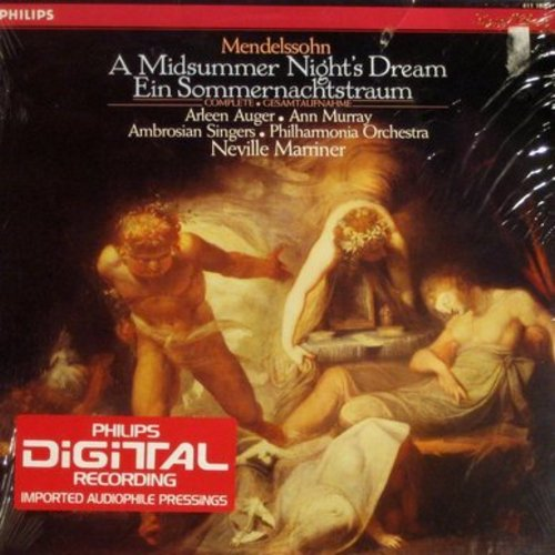 Arleen Auger, Ann Murray, Neville Marriner and the Philharmonia Orchestra - A Midsummer Night's Dream - Ein Sommernachtstraum (Vinyl DIGITAL LP record, Dutch Pressing, SEALED, never opened!) - SEALED/SEALED - LP Records